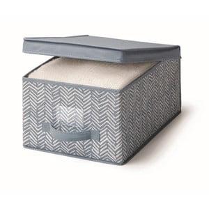 Modrý úložný box s vekom Cosatto Tweed, šírka 30 cm