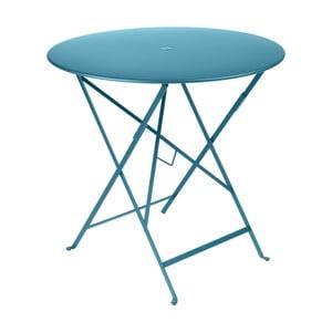 Modrý záhradný stolík Fermob Bistro, Ø77 cm