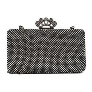 Čierna listová kabelka Renata Corsi Queen