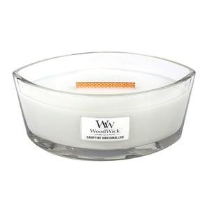 Sviečka s vôňou marshmallows Woodwick Penové cukríky na ohni, doba horenia 80 hodín