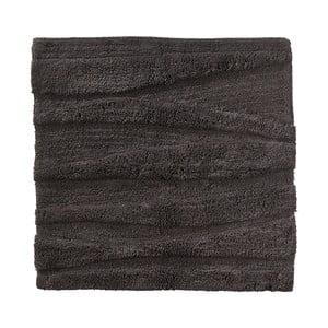 Antracitová kúpeľňová predložka Zone Flow, 65 x 65 cm