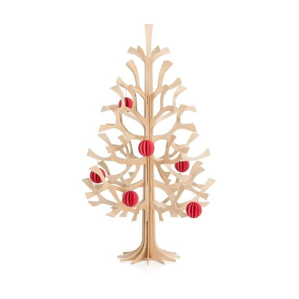 Skladacia dekorácia Lovi Spruce Minibaubles Bright Red