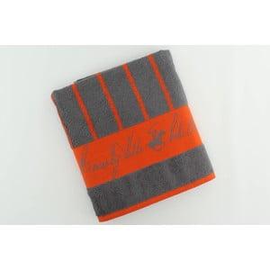 Bavlnená osuška BHPC 80x150 cm, oranžovo-modrá