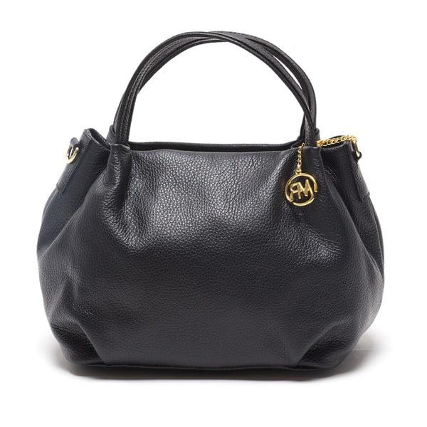 Kožená kabelka Giada, čierna