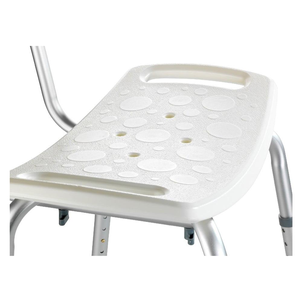 Sedacia stolička s operadlom do sprchy Wenko Stool With Back, 54 × 49 cm