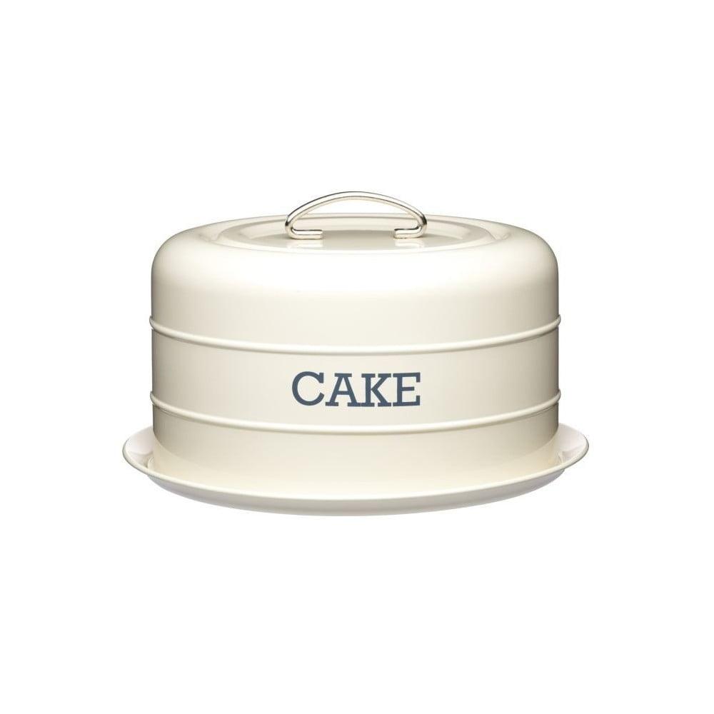 Krémová plechová dóza na koláč Kitchen Craft Nostalgia, ⌀ 28,5 cm