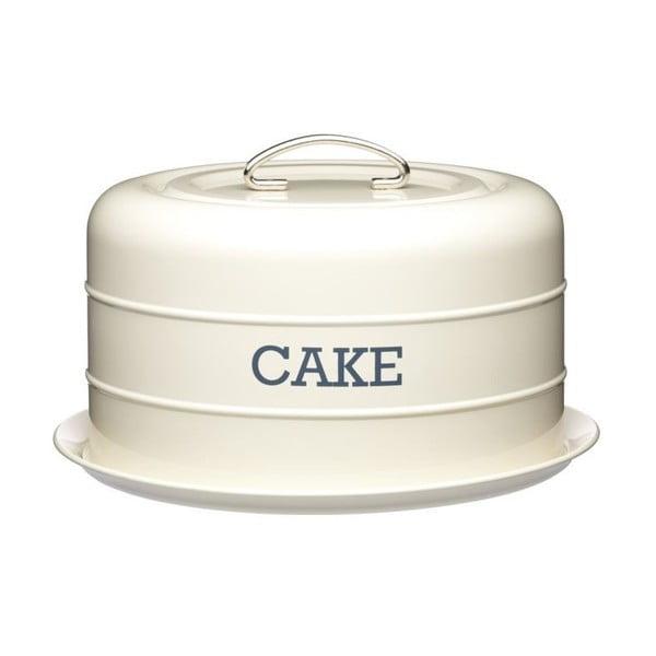 Krémovobiela plechová dóza na koláč Kitchen Craft Cake