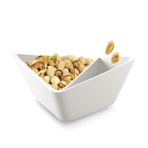 Trojitá servírovacia miska Nut+Olive Bowl, biela