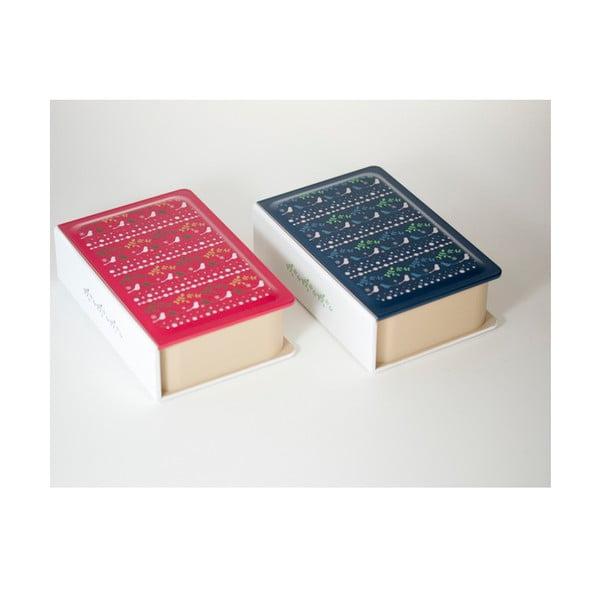 Desiatový box Metsa Book Red, 500 ml
