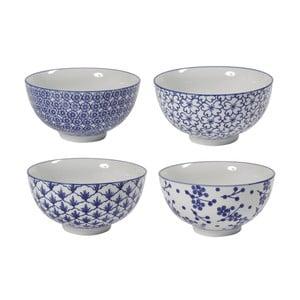 Sada 4 porcelánových misiek Blue Bowls, 15 cm