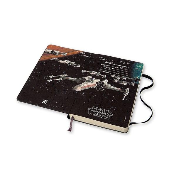 Denný diár Moleskine Stars Wars, 13x21 cm