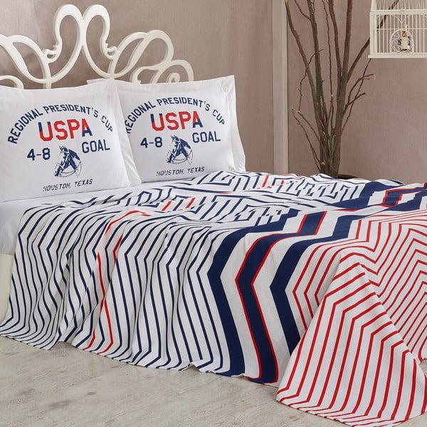 Sada prikrývky cez posteľ a prestieradla U.S. Polo Assn. Driggs, 200x220 cm