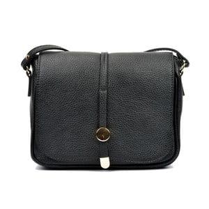 Čierna kožená kabelka Renata Corsi Rozzno