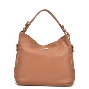 Koňaková hnedá kožená kabelka Mangotti Cassie