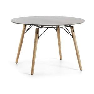 Jedálenský stôl so svetlosivou doskou La Forma Trope, Ø 120 cm