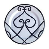 Sada 6 melamínových tanierov Sunvibes Arabesque, ⌀ 25 cm