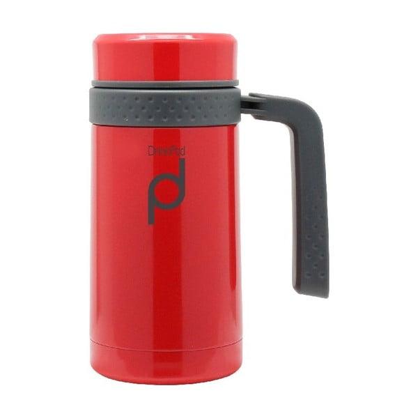Červený termohrnček Pioneer Drinkpod, 450ml