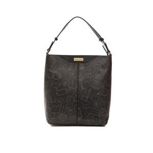 Čierna kožená kabelka Alviero Martini Nero