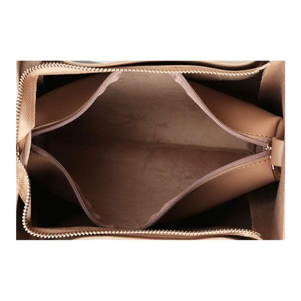 Béžová kabelka z eko kože Beverly Hills Polo Club Amy