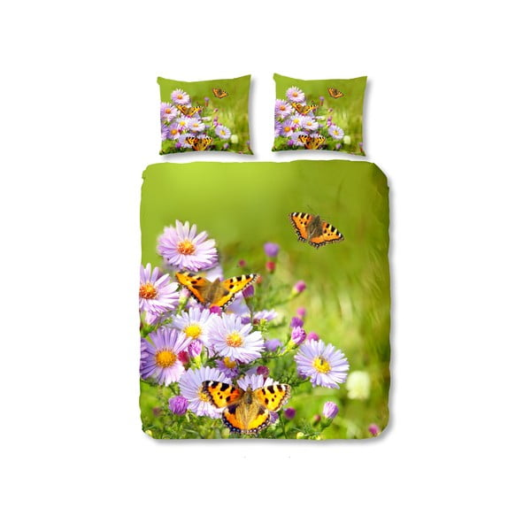 Zelené obliečky Muller Textiel Butterfly, 200x200cm