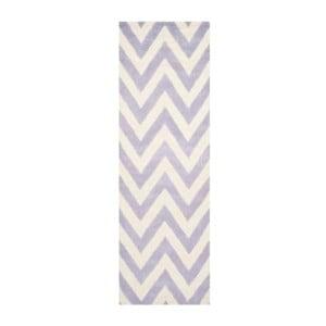 Vlnený koberec Stella Light Purple, 76x243 cm