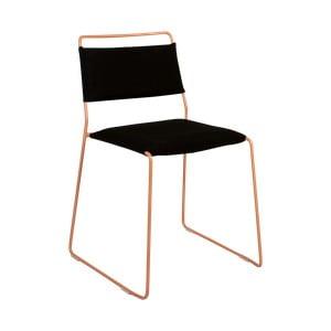 Čierna stolička so žltou konštrukciou OK Design One Wire