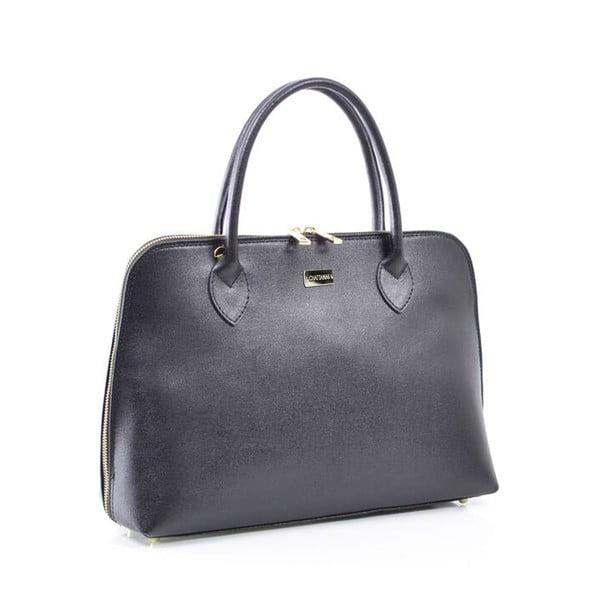 Kožená kabelka Dominique, čierna