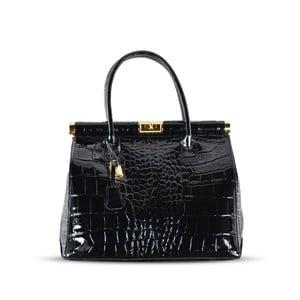 Kožená kabelka Justine, čierna