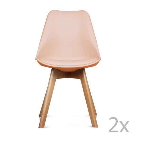Sada 2 ružových stoličiek Opjet Scandinavie