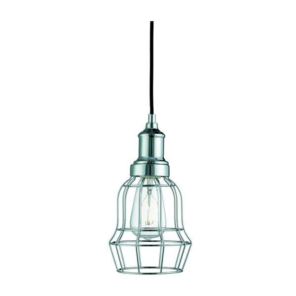 Stropné svietidlo Searchlight Bell Cage, chromovaná