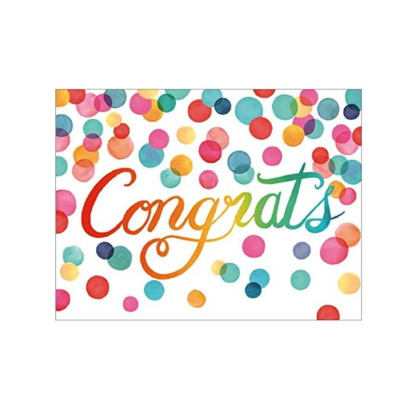 Sada blahoprianí Galison Mudpuppy Congratulations, 16ks
