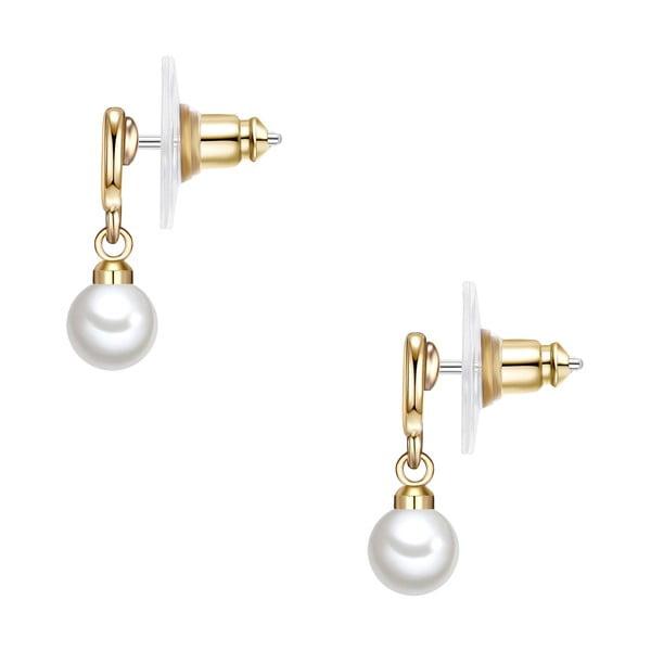 Náušnice s bielou perlou Perldesse Kio,⌀6 mm