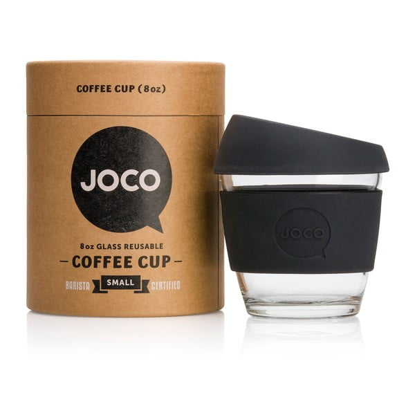 Eko hrnček na kávu Joco Cup 227 ml, čierny