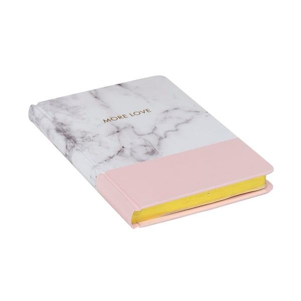 Zápisník Stockholm Marble, ružový