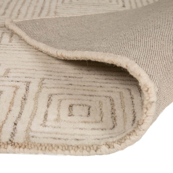 Vlnený koberec Maze 120 x 170 cm, béžový