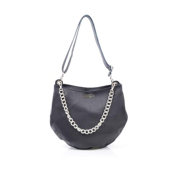 Kožená kabelka Melia, čierna