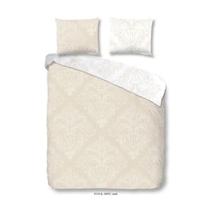 Bavlnená obliečka na dvojlôžko Descanso Mist Sand, 200 x 200 cm