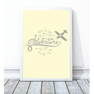 Zarámovaný plagát Adventure, 30x40 cm