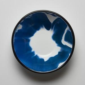 Modro-biela smaltovaná miska Kapka Little Color, Ø16,5 cm