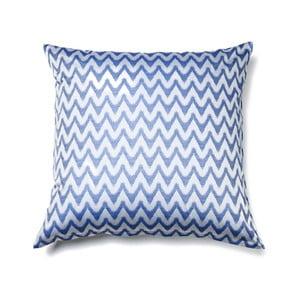 Modrá obliečka na vankúš z čistej bavlny Casa Di Bassi Aqua, 80 x 80 cm