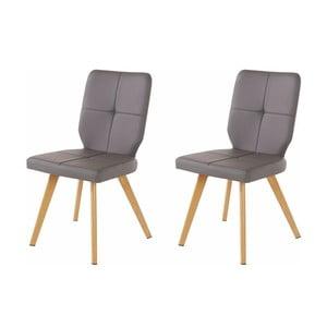 Sada 2 sivých jedálenských stoličiek Støraa Daniel