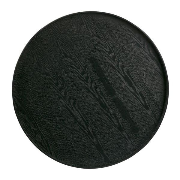 Čierny podnos WOOOD Mesa, Ø60cm