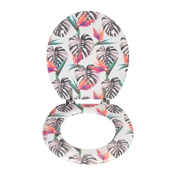 Vzorované WC sedadlo Wenko Prima Tropical, 41 × 37 cm