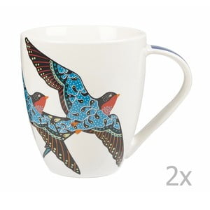 Sada 2 ks hrnčekov Churchill China Paradise Swallow, 500 ml