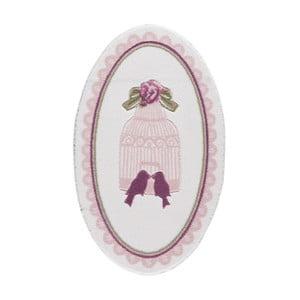 Svetloružová predložka do kúpeľne Confetti Bathmats Birdcage, dĺžka 133cm