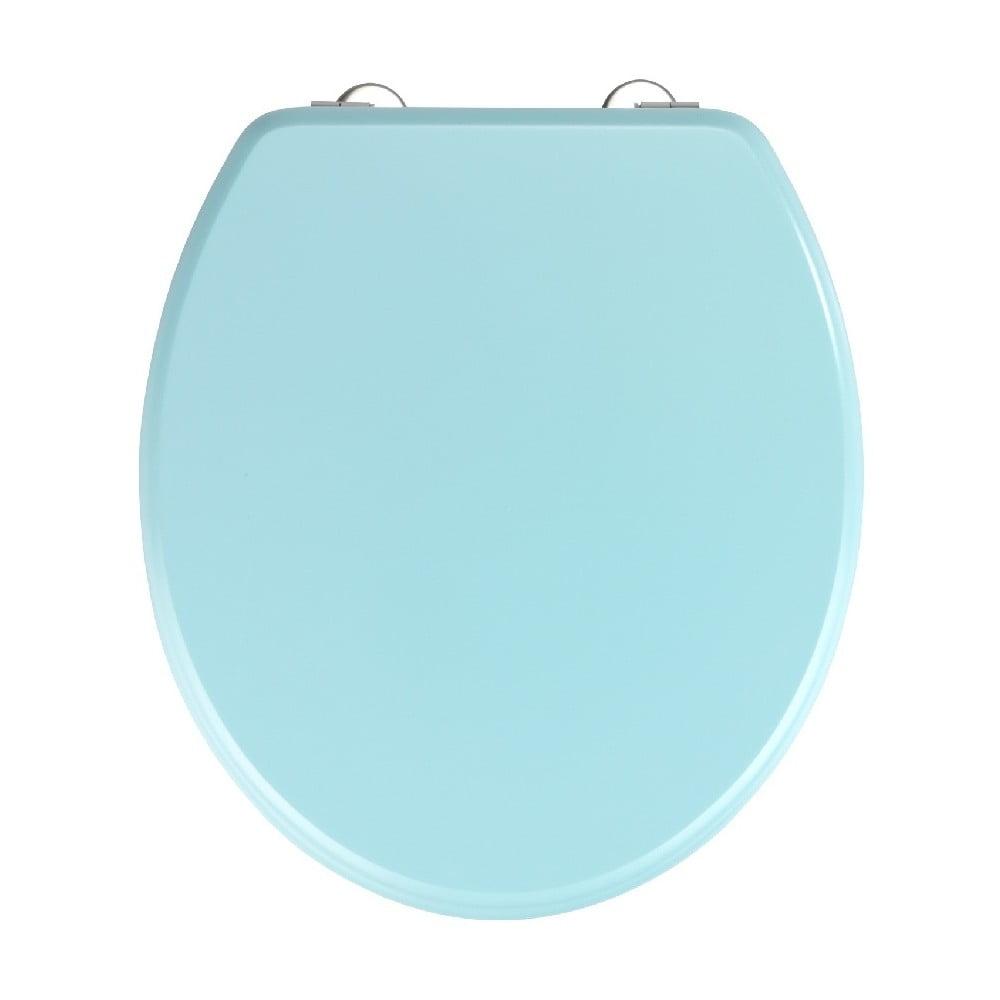 Svetlomodré WC sedadlo Wenko Prima Light Blue, 41 × 37 cm