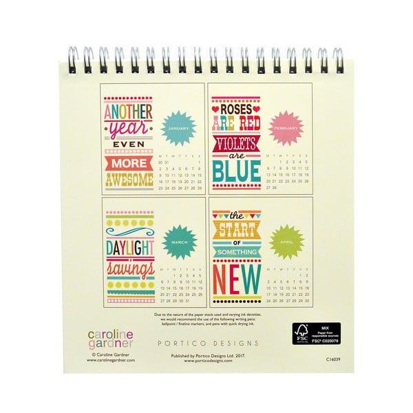 Stolový kalendár Portico Designs Say So