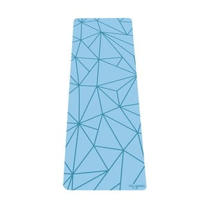 Tyrkysovomodrá podložka na jogu Yoga Design Lab Geo Aqua, 5 mm