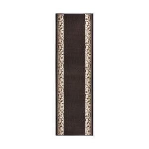 Koberec Basic Elegance, 80x200 cm, tmavohnedý