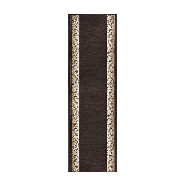 Koberec Basic Elegance, 80x400 cm, tmavohnedý